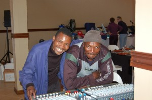 David Sithole and Bennie from SABC co-producing